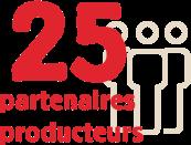 25 partenaires producteurs